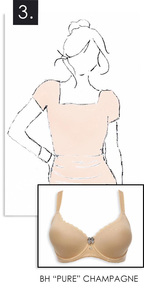 BH zu hellem Kleid