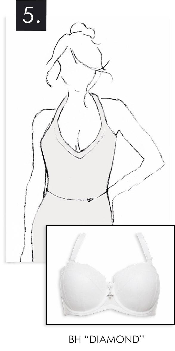 Der BH zum Neckholder Kleid