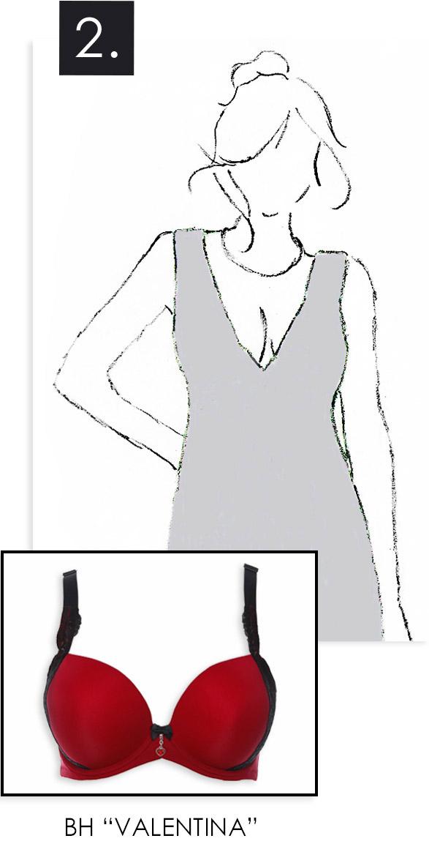 BH zu Kleid mit tiefem Ausschnitt
