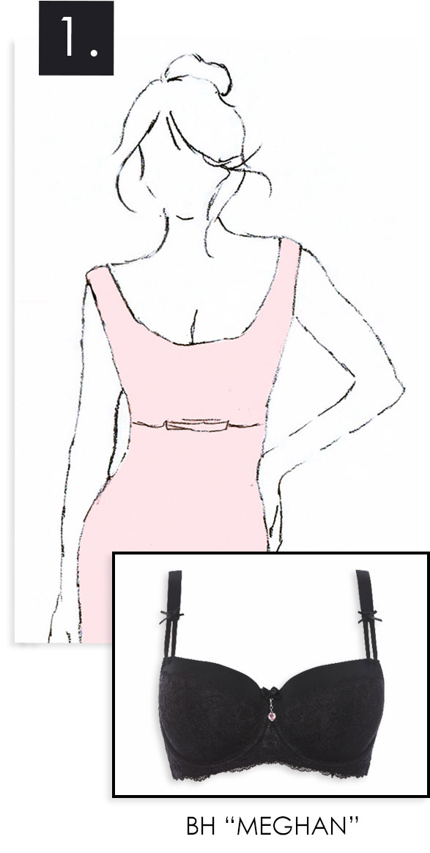 Balconette BHs für Kleider mit weitem Ausschnitt