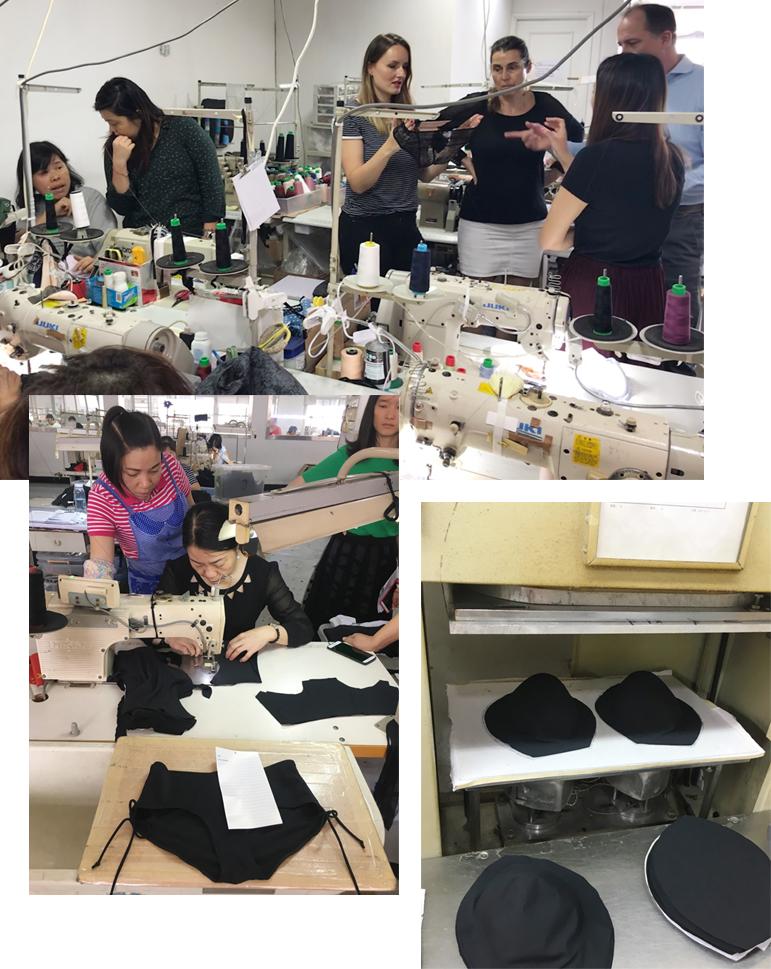 Produktion der SugarShape Unterwäsche
