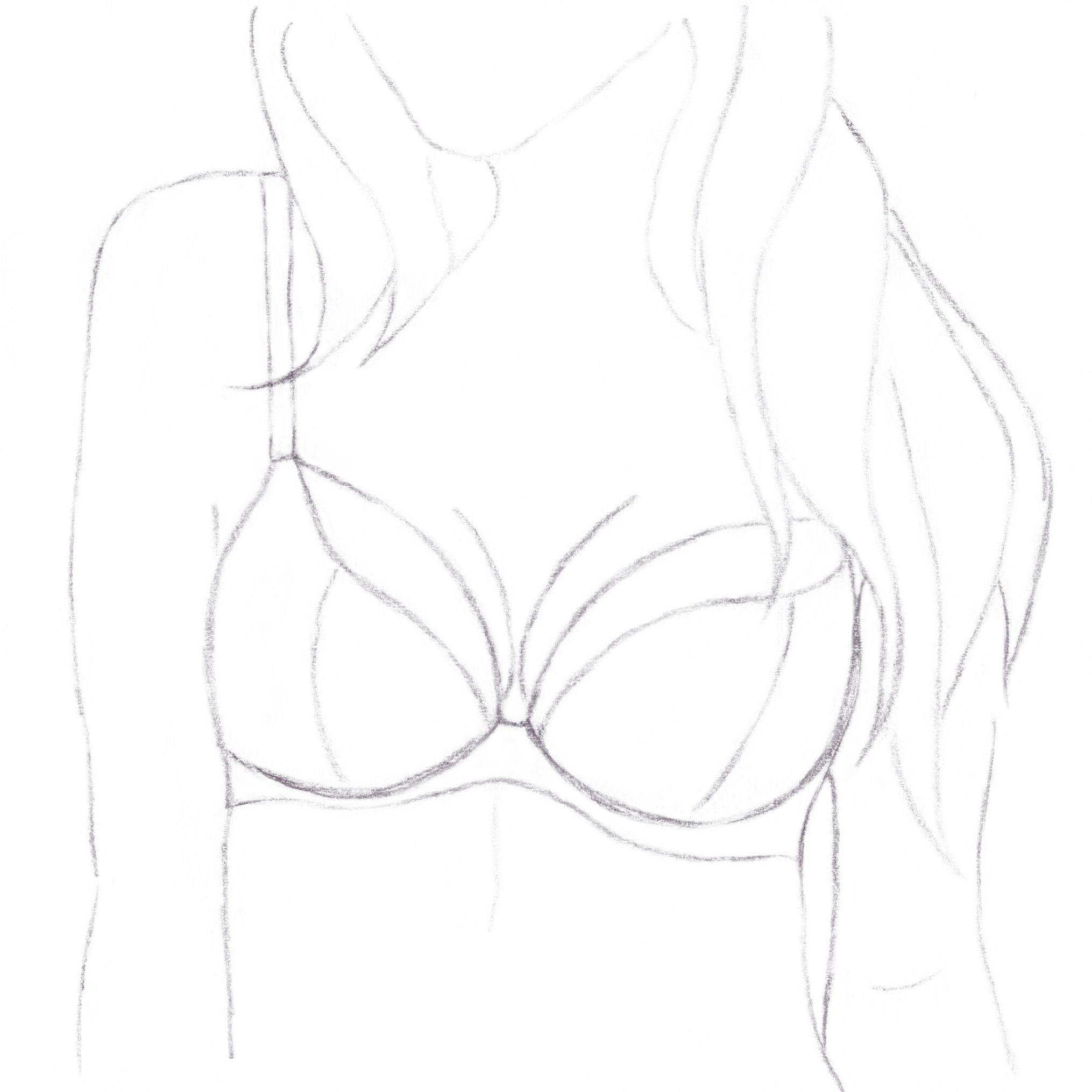 Zeichnung eines Plunge BHs