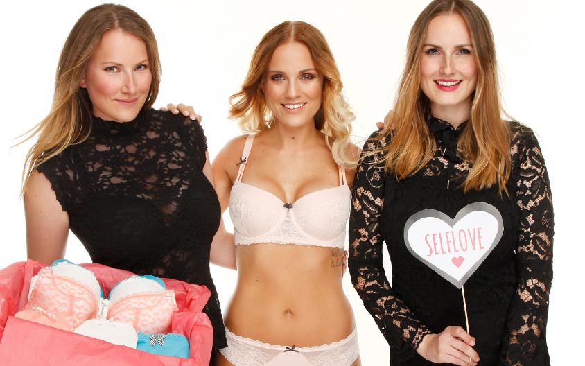 Die SugarShape Schwestern mit einem Model.