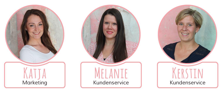 Unsere Teammitglieder Katja, Melanie und Kerstin