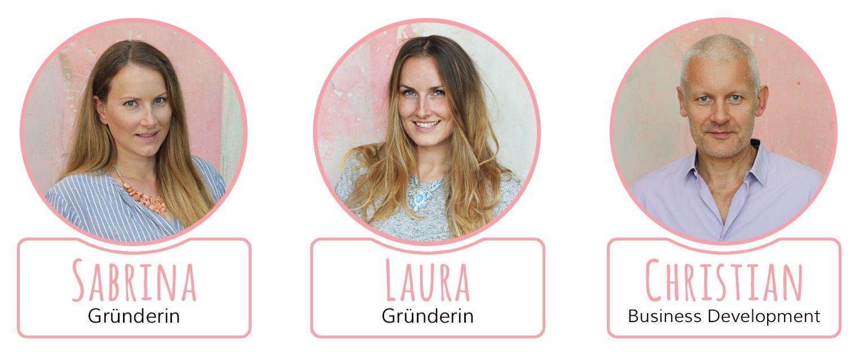 Unsere Teammitglieder Sabrina, Laura und Christian