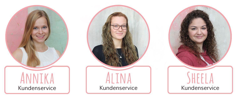 Unsere Teammitglieder Annika, Alina und Sheela