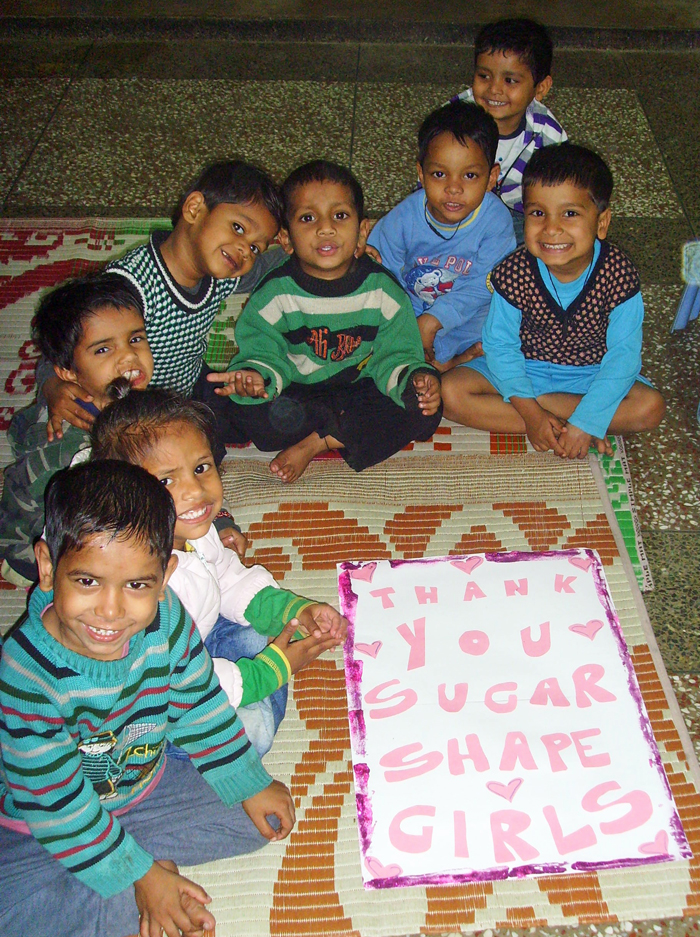 Slumkinder bedanken sich bei SugarShape