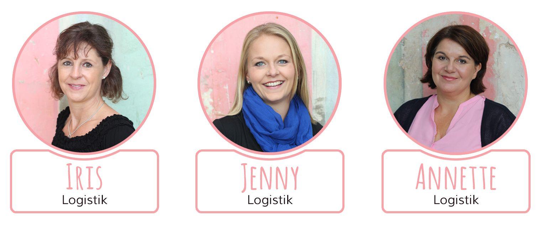 Unsere Teammitglieder Iris, Jenny und Annette