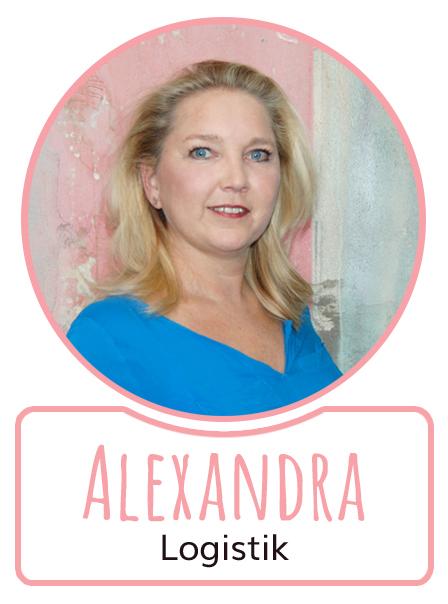 Alexandra - Mitarbeiterin in der Logistikabteilung von SugarShape
