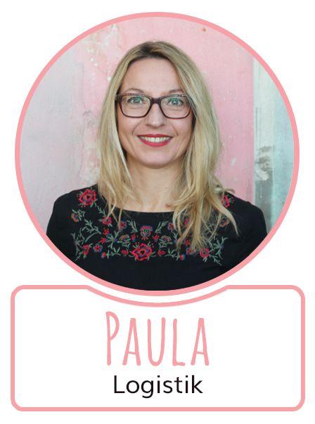 Paula - Mitarbeiterin in der Logistikabteilung von SugarShape