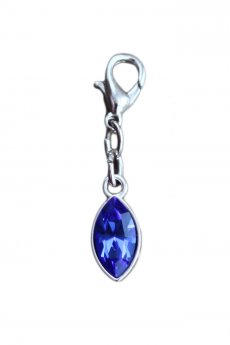 "Bra Charm ""Blue Drop"""