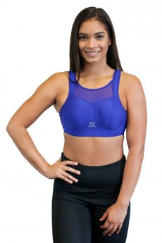 "Sports Bra ""Move"" blue mesh"