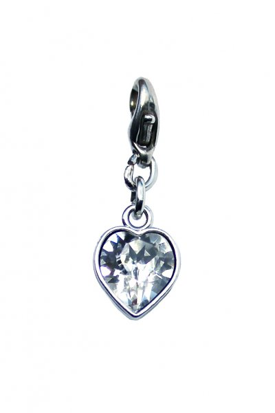 "Luxus Bra Charm: ""Crystal Heart"""