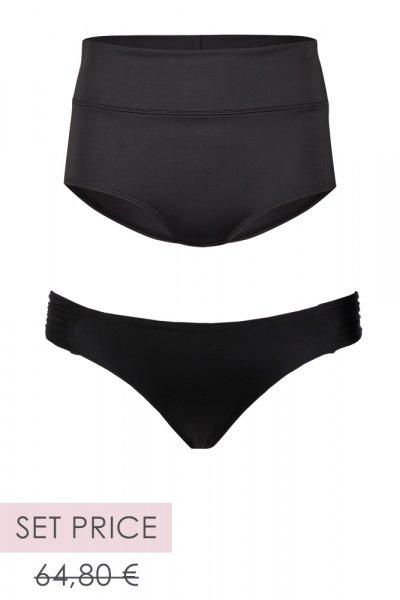 "Set ""Monaco"" Fold-over-Bikini-Slip & ""Monaco"" Slip"